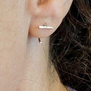 Bar Huggie Earings